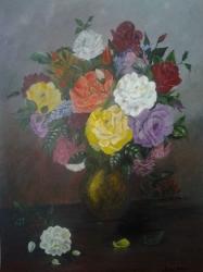 Acsai  Anna / Rózsák vázában