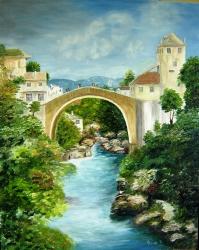 Molnár Józsefné Erzsi / Híd a Neretván